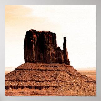 Mitten Butte in Monument Valley, Utah Print