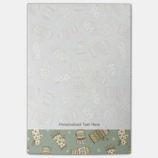 Mitten Pattern Post-it® Notes