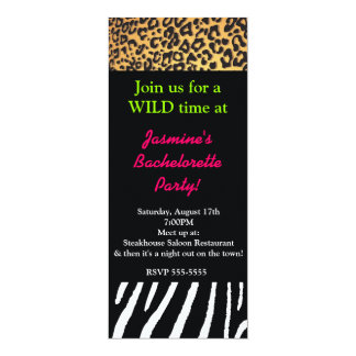 Mixed Animal Print Cheetah Zebra Leopard Party Card