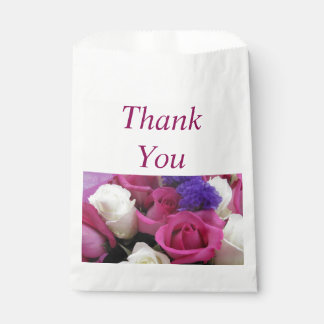 Mixed Flowers Thank You Favor Bags Favour Bags