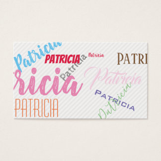 Mixed Fonts and Colours Business Card