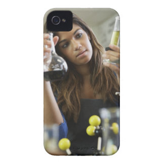 Mixed Race teenaged girl in science class iPhone 4 Case-Mate Case