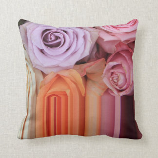 Mixed roses on graphic design pillow