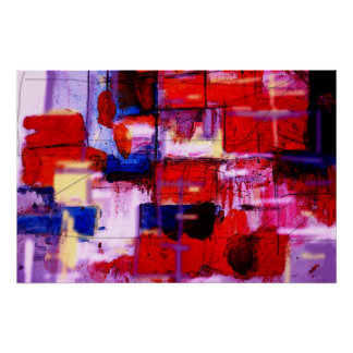 Mixed Technique Modern Abstract Painting Art Print