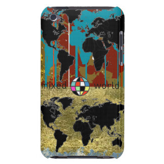 mixed world maps barely there iPod cases
