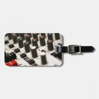 Mixing Board Closeup Luggage Tag