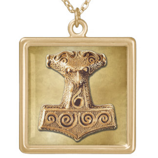 Mjölnir in Gold - Gold Necklace 2