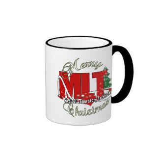 MLT CHRISTMAS MEDICAL LABORATORY TECH RINGER MUG