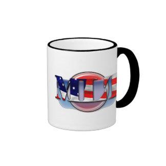 MLT in the  USA MEDICAL LABORATORY TECH FLAG Ringer Mug