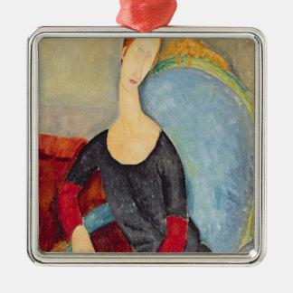 Mme Hebuterne in a Blue Chair, 1918 Christmas Ornament
