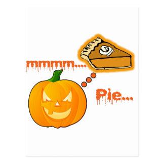 Mmmm Pumpkin Pie - Halloween Post Cards