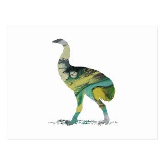 Moa Bird Art Postcard