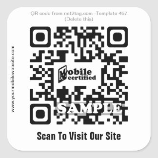 MobiSite Promotion Sticker (QR code template #467)