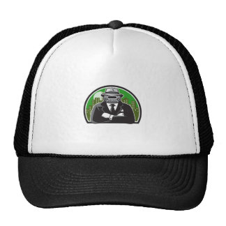 Mobster Car Grille Face Circle Retro Cap