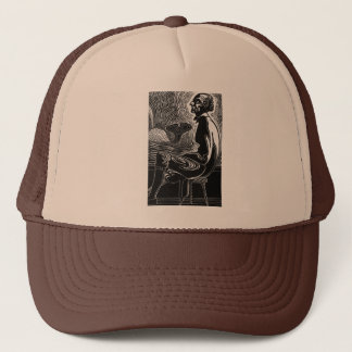 Moby Dick Captain Ahab Trucker Hat