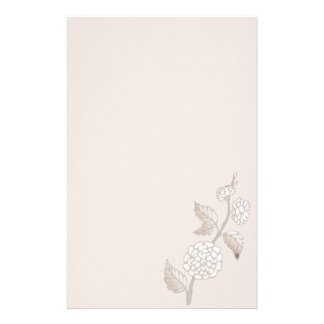 Mocha Blossom Contemporary Modern Floral Stationery