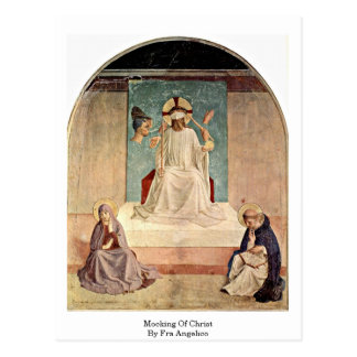 Mocking Of Christ. By Fra Angelico Postcard
