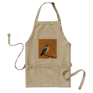 """Mockingbird: """"know every song is your own."""" apron"""