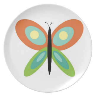 Mod Butterfly Three Party Plate