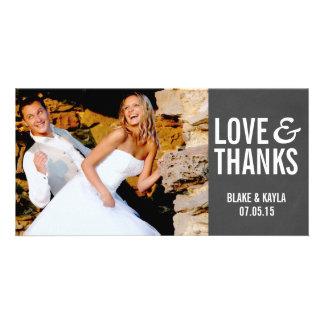 Mod Chalkboard Wedding Thank You Photocard Photo Cards