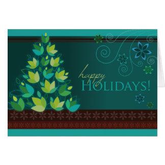 Mod Christmas Tree - Teal Card
