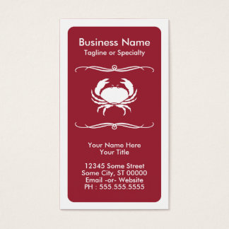 mod crab business card