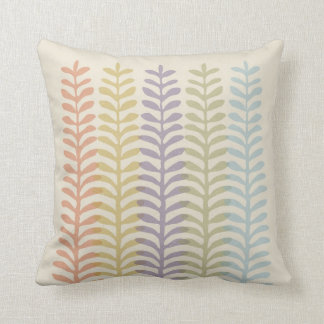 Mod Ferns Throw Pillow