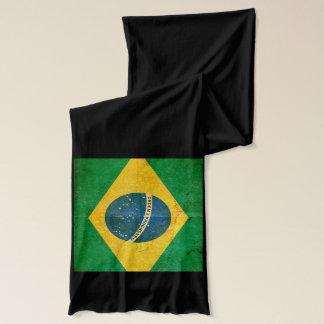 Mod Flag Of Brazil Cotton Wrap Scarf