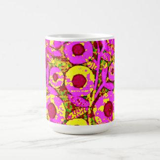 Mod-Floral-70's_Retro_Pink_Yellow Magic Mug