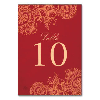 Mod Mehandi Table Number Table Cards
