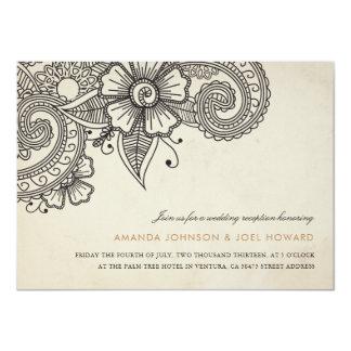 Mod Mehandi Wedding Reception Invite