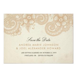 Mod Mehandi Wedding Save the Date Card