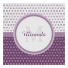 Mod Purple and White Polka Dots Monogram With Name Poster