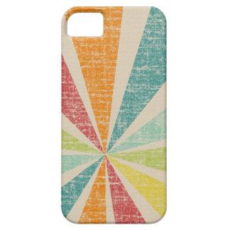 Mod Rainbow Sun Burst Grunge Rustic Colorful iPhone 5 Covers