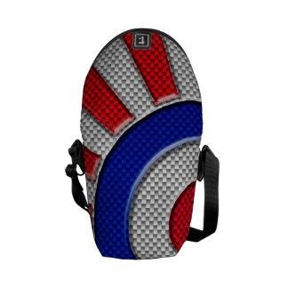 Mod Roundel Sunburst Carbon Fiber Style Courier Bag