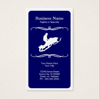 mod snowmobile business card
