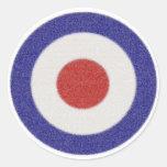 Mod Target Distressed Round Sticker