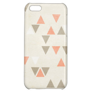 Mod Triangles Coral & Beige Grey Abstract Arrows Case For iPhone 5C