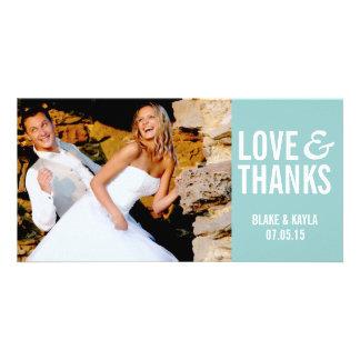 Mod Wedding Thank You Photocard Personalised Photo Card