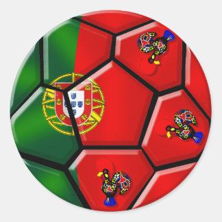 Moda Portuguesa - Fuetbol Chique Classic Round Sticker