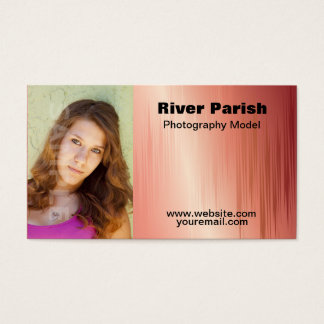 Model Actors Headshot Business Card Template