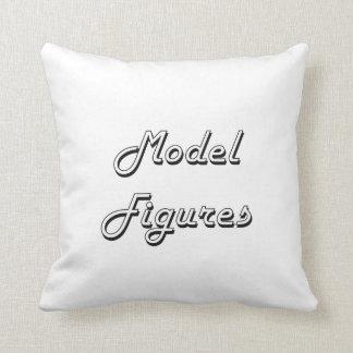 Model Figures Classic Retro Design Throw Cushions