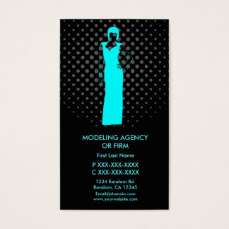 Modeling agency custom business card