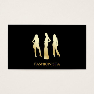 Models (gold) business card