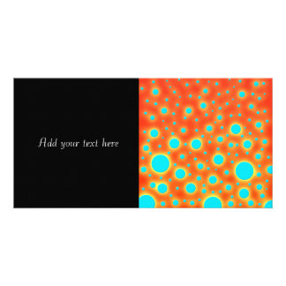 Moder Design Turquoise Dots on Bright Orange Card