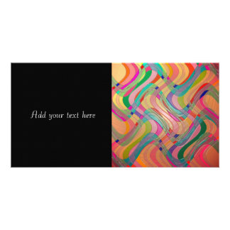 Modern Abstract Art Colorful Stained Glass Look Photo Greeting Card