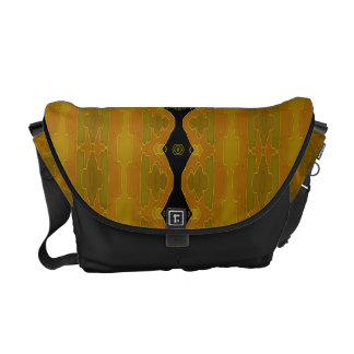 Modern Abstract Black Gold Olive Courier Bag