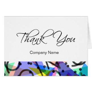 Modern Abstract Business Thank You Cards