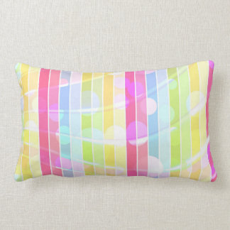 Modern abstract colorful stripes polka dots throw cushion