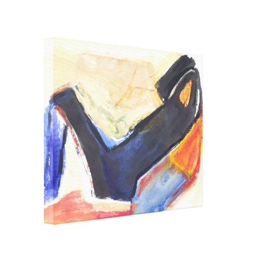 Modern Abstract  Expressionist Figure Canvas Prints